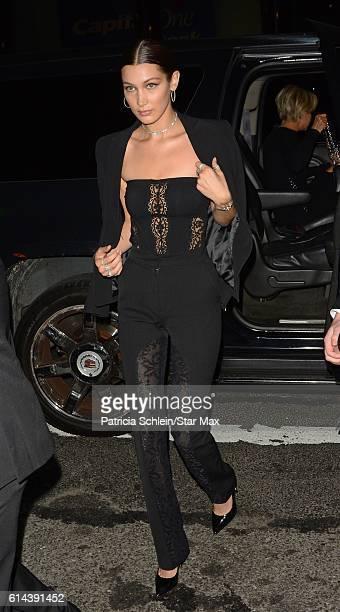 Model Bella Hadid is seen on October 13 2016 in New York City