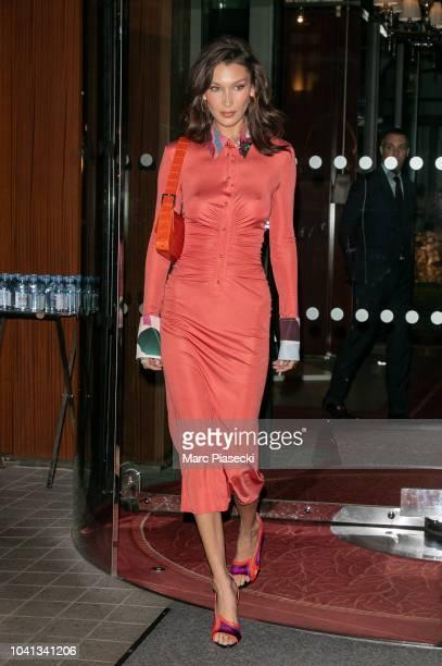 Model Bella Hadid is seen on September 26 2018 in Paris France