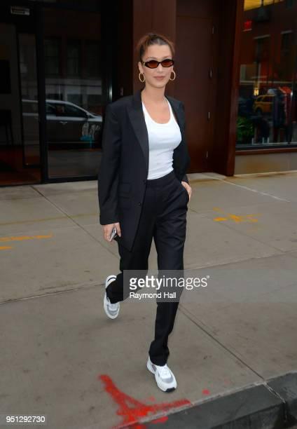 Model Bella Hadid is seen walking in Soho on April 25 2018 in New York City