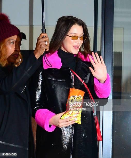 Model Bella Hadid is seen walking in Soho on February 10 2018 in New York City