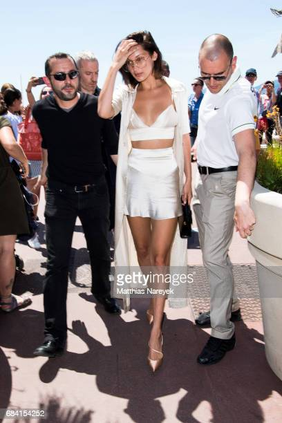 Model Bella Hadid is spotted during the 70th annual Cannes Film Festival at on May 17 2017 in Cannes France