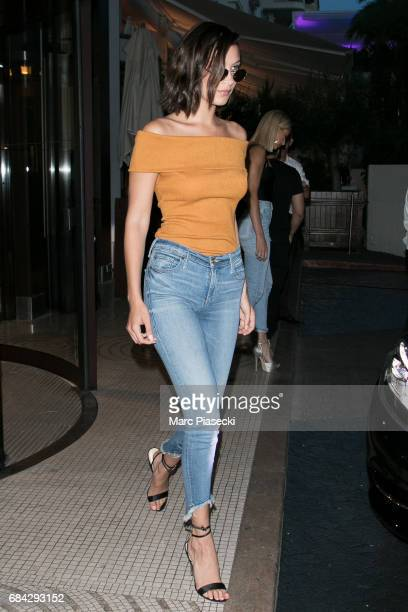 Model Bella Hadid is spotted during the 70th annual Cannes Film Festival on May 17 2017 in Cannes France
