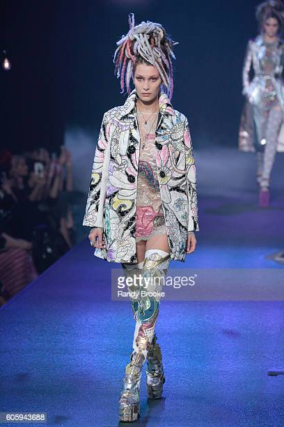 Model Bella Hadid walks the Marc Jacobs runway September 2016 New York Fashion Week show on September 15 2016 in New York City
