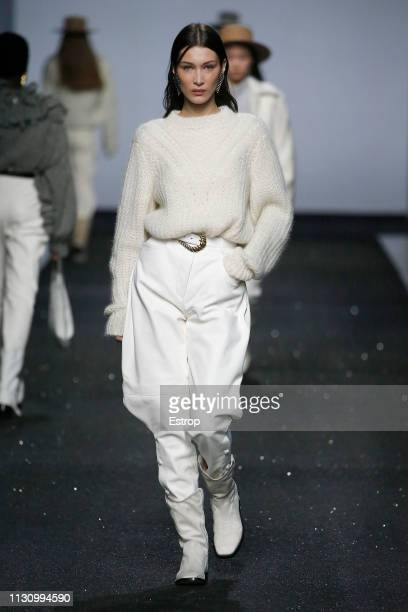 Model Bella Hadid walks the runway at the Alberta Ferretti show at Milan Fashion Week Autumn/Winter 2019/20 on February 20 2019 in Milan Italy