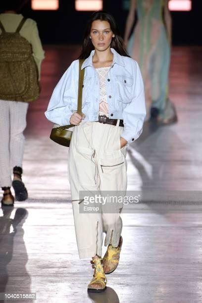 Model Bella Hadid walks the runway at the Alberta Ferretti show during Milan Fashion Week Spring/Summer 2019 on September 19 2018 in Milan Italy