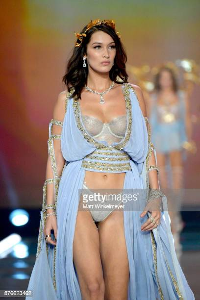 Model Bella Hadid walks the runway during the 2017 Victoria's Secret Fashion Show In Shanghai at Mercedes-Benz Arena on November 20, 2017 in...