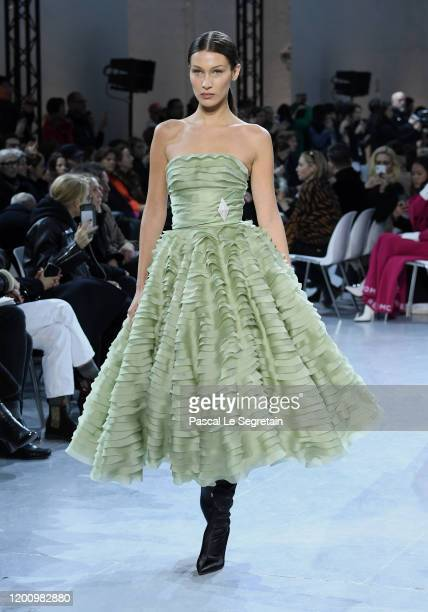 Model Bella Hadid walks the runway during the Alexandre Vauthier Haute Couture Spring/Summer 2020 show as part of Paris Fashion Week on January 21,...