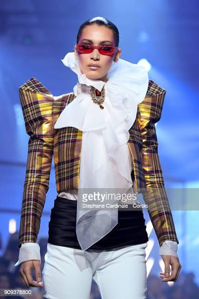 Model Bella Hadid walks the runway during the Alexandre Vauthier Spring Summer 2018 show as part of Paris Fashion Week on January 23 2018 in Paris...