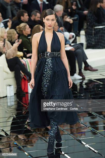 Model Bella Hadid walks the runway during the Chanel Spring Summer 2017 show as part of Paris Fashion Week on January 24 2017 in Paris France