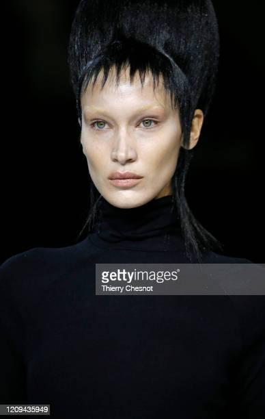 US model Bella Hadid walks the runway during the Haider Ackermann show as part of the Paris Fashion Week Womenswear Fall/Winter 2020/2021 on February...