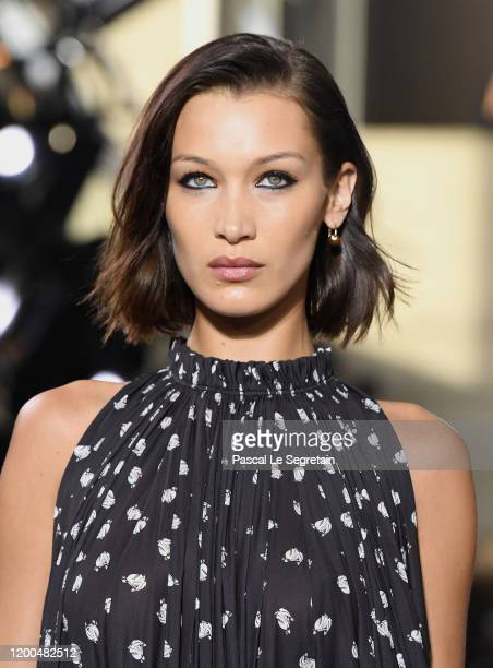 Model Bella Hadid walks the runway during the Lanvin Menswear Fall/Winter 2020-2021 show as part of Paris Fashion Week on January 19, 2020 in Paris,...