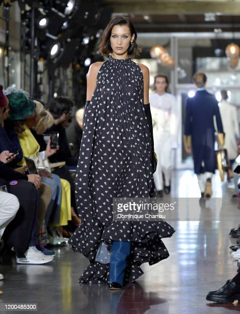 Model Bella Hadid walks the runway during the Lanvin Menswear Fall/Winter 20202021 show as part of Paris Fashion Week on January 19 2020 in Paris...