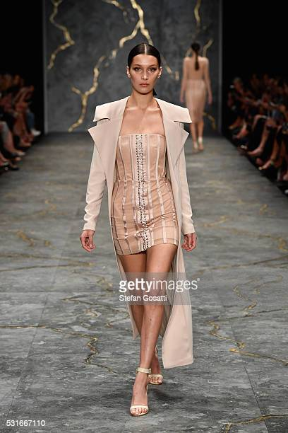 Model Bella Hadid walks the runway during the Misha Collection show at MercedesBenz Fashion Week Resort 17 Collections at Carriageworks on May 16...