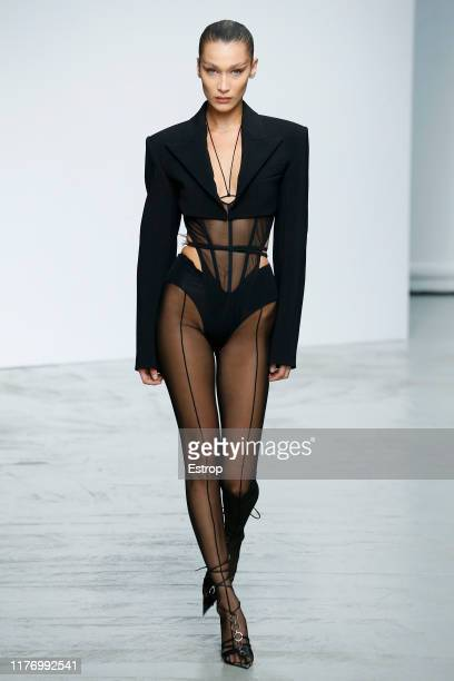 Model Bella Hadid walks the runway during the Mugler Womenswear Spring/Summer 2020 show as part of Paris Fashion Week on September 25, 2019 in Paris,...