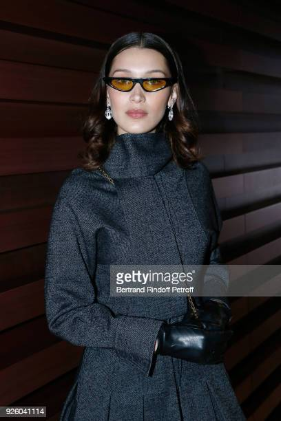 Model Bella Hadid wearing Bulgari Jewelry attends the LVMH Prize 2018 Designers Presentation on March 1 2018 in Paris France