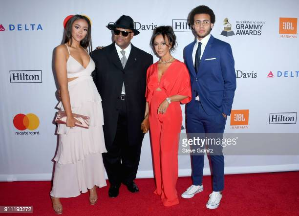 Model Bella Harris music producer Jimmy Jam Lisa Harris and Max Harris attend the Clive Davis and Recording Academy PreGRAMMY Gala and GRAMMY Salute...