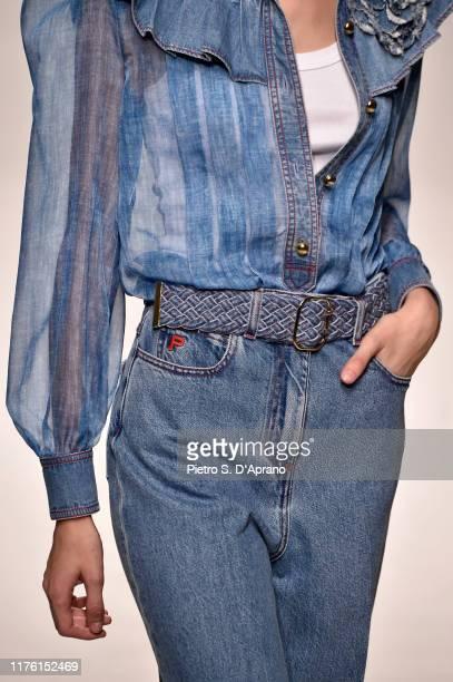 A model belt detail walks the runway at the Philosophy Di Lorenzo Serafini show during the Milan Fashion Week Spring/Summer 2020 on September 21 2019...
