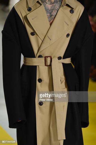 A model belt detail walks the runway during the Maison Margiela Menswear Fall/Winter 20182019 show as part of Paris Fashion Week on January 19 2018...