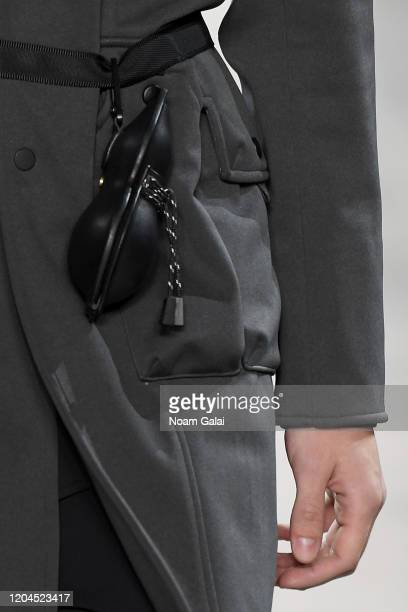 A model belt detail walks the runway for OQLIQ during New York Fashion Week The Shows at Gallery II at Spring Studios on February 06 2020 in New York...