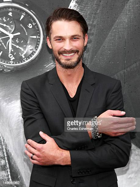 Model Ben Hill attends the David Yurman Fall 2012 annual rooftop soiree at David Yurman Rooftop on August 1 2012 in New York City
