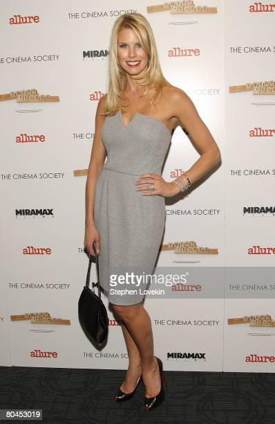 """Model Beth Ostrosky attends """"Smart People"""" screening hosted by the Cinema Society & Linda Wells at the Landmark Sunshine Theater on March 31, 2008 in..."""