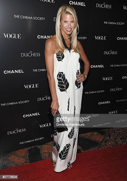Model Beth Ostrosky attends the Cinema Society with Chanel and Vogue's screening of The Duchess at the Public Theater on September 10 2008 in New...