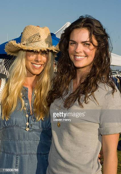 Model Beth Ostrosky Stern and chef Katie Lee attend Hamptons Magazine's Annual Clambake Celebration at The Montauk Yacht Club on July 17 2011 in...