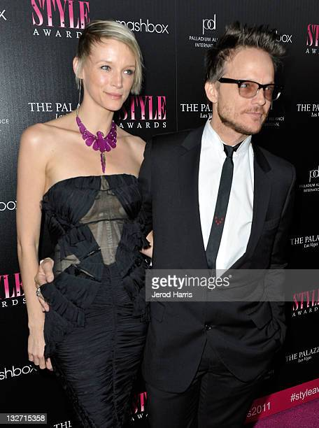 Model Betina Holte and photographer Randall Slavin arrive at the 2011 Hollywood Style Awards sponsored by Smashbox The Palazzo Las Vegas and...