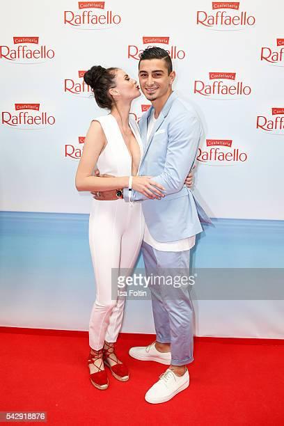 Model Betty Taube and football player Koray Guenter attend the Raffaello Summer Day 2016 to celebrate the 26th anniversary of Raffaello on June 24...