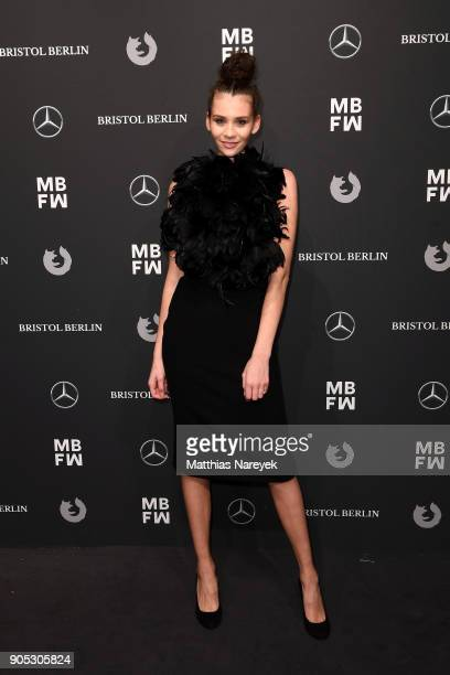 Model Betty Taube attends the Dawid Tomaszewski show during the MBFW Berlin January 2018 at ewerk on January 15 2018 in Berlin Germany