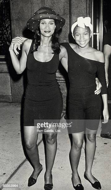 Model Beverly Johnson and daughter Anansa Johnson attending Don't Bungle the Jungle Benefit on June 28 1989 at Emporio Armani in New York City New...