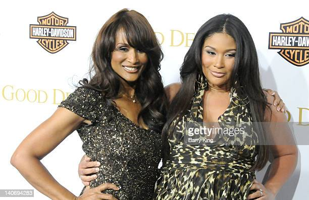 Model Beverly Johnson and her daughter attend the premiere of Tyler Perry's 'Good Deeds' at Regal Cinemas LA Live on February 14 2012 in Los Angeles...