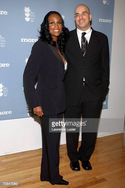 Model Beverly Johnson and Michael Parness president and CEO of Trendfundcom arrive at the Changing Destiny Awards and 50 Celebrate 50 Gala February...