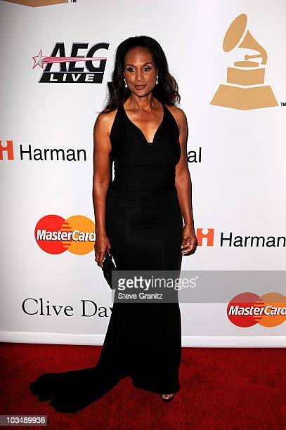 Model Beverly Johnson arrives at the 52nd Annual GRAMMY Awards Salute To Icons Honoring Doug Morris held at The Beverly Hilton Hotel on January 30...
