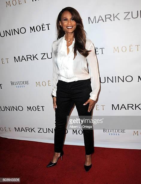 Model Beverly Johnson arrives for the Mark Zunino Atelier Opening held at Mark Zunino Atelier on January 7 2016 in Beverly Hills California