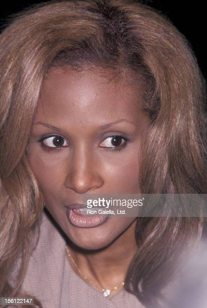 Model Beverly Johnson attending 'Friars Club Roasts Whoopi Goldberg' on October 8 1993 at the New York Hilton Hotel in New York City New York