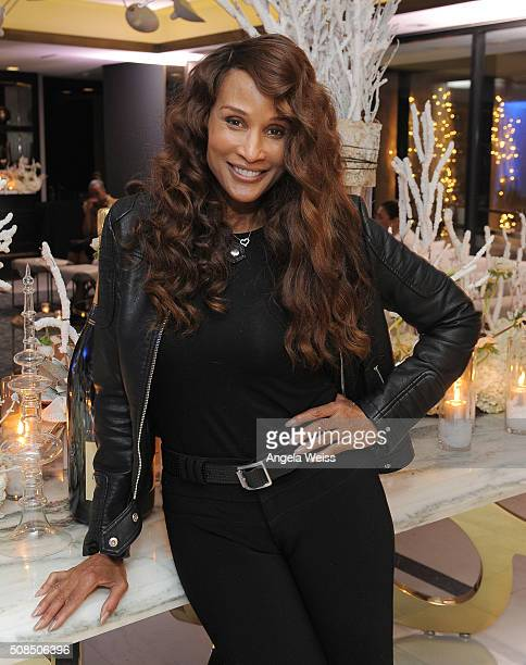 Model Beverly Johnson attends a Martin Katz designed event celebrating the wedding of Daisy Fuentes and Richard Marx in the hotel's Penthouse...