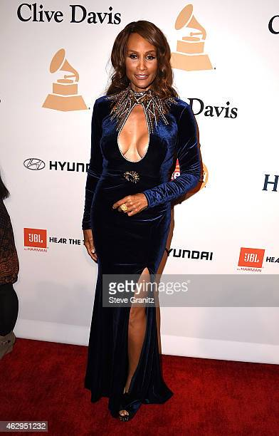 Model Beverly Johnson attends the PreGRAMMY Gala and Salute To Industry Icons honoring Martin Bandier on February 7 2015 in Los Angeles California