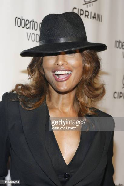 Model Beverly Johnson attends the Roberto Cavalli Vodka and Giuseppe Cipriani Halloween Party at Cipriani's 42nd Street on October 31 2007 in New...