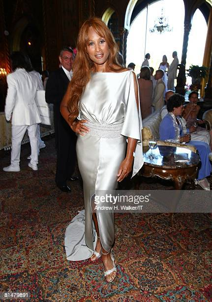 RATES Model Beverly Johnson during the wedding reception of Ivana Trump and Rossano Rubicondi at the MaraLago Club on April 12 2008 in Palm Beach...