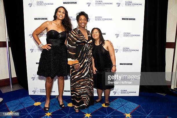Model Beverly Johnson singer Gladys Knight and Natalie Fuller arrive at the inaugural Global Down Syndrome Foundation's Be Beautiful Be Yourself Gala...
