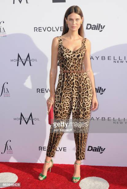Model Bianca Balti arrives at the Daily Front Row's 3rd Annual Fashion Los Angeles Awards at the Sunset Tower Hotel on April 2, 2017 in West...