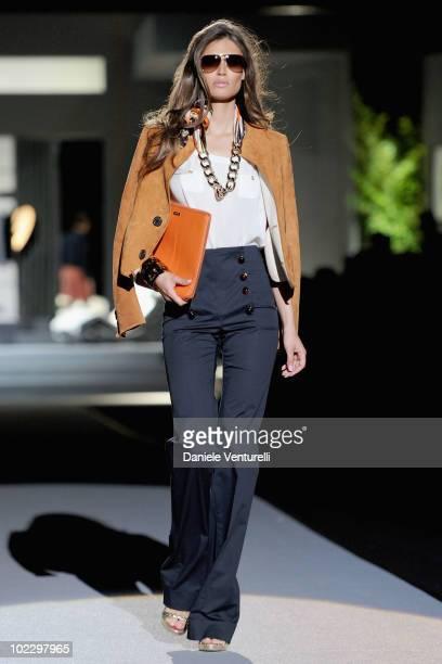 Model Bianca Balti walks the runway during the DSquared2 Milan Fashion Week Menswear Spring/Summer 2011 show on June 22, 2010 in Milan, Italy.