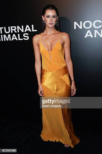 Model Bianca Booth arrives at the screening of Focus Features' 'Nocturnal Animals' at the Hammer Museum on November 11 2016 in Westwood California