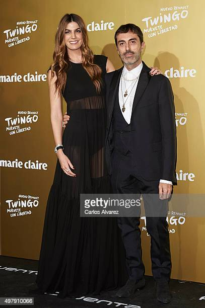 Model Bianca Brandolini and designer Giambattista Valli attend the Marie Claire Prix de la Moda 2015 at the Callao cinema on November 19, 2015 in...