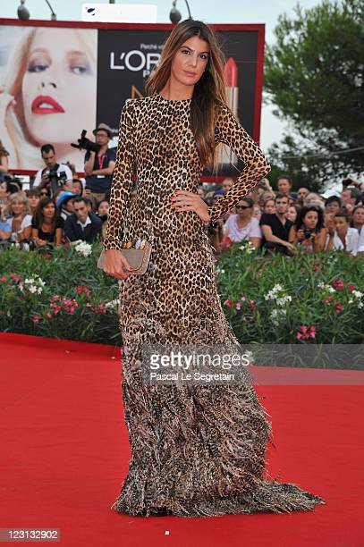 Model Bianca Brandolini attends The Ides Of March premiere during the 68th Venice Film Festival at the Palazzo del Cinema on August 31 2011 in Venice...