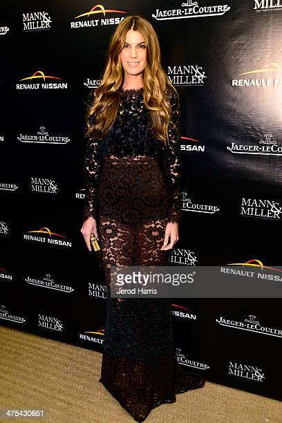 Model Bianca Brandolini d'Adda attends a private screening and intimate dinner hosted by Carmen and Dolores Chaplin Mann Miller with the support of...