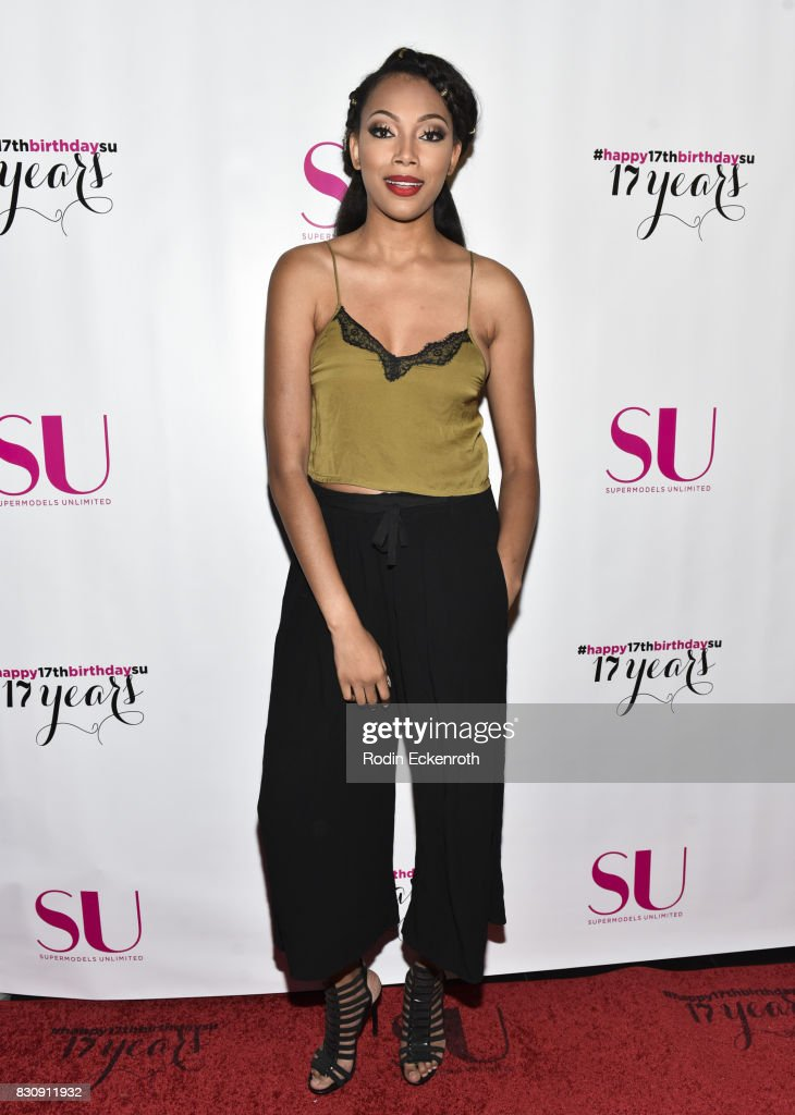 Model Bianca Golden attends SU Magazine's 17th Anniversary Celebration at Avalon on August 12, 2017 in Hollywood, California.