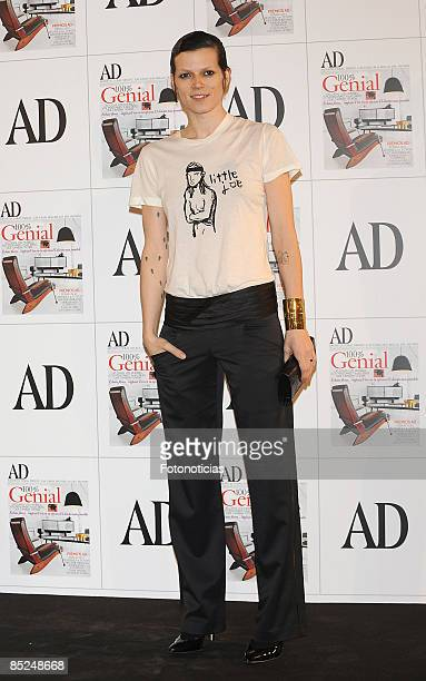 Model Bimba Bose arrives at AD Magazine Architecture Awards party, at Casino de Madrid on March 4, 2009 in Madrid, Spain.