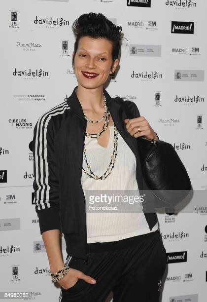 Model Bimba Bose arrives at David Delfin aftershow party held at Room Mate Oscar Hotel on February 22 2009 in Madrid Spain